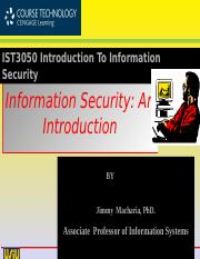 IST3050 WK01-Information Security An Introduction v2.ppt
