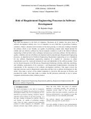 Role of RS in Software development.pdf