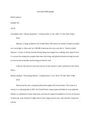 Will's Annotated Bibliography for obesity.docx