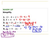 Combining-Distributive Review