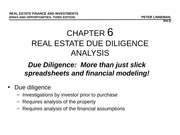 Due Diligence Analysis