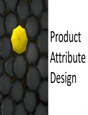 WPC 301- Chapter 4 Slides (Product Attribute Design)