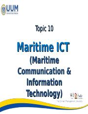 Lecture 10 - Maritime ICT