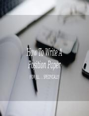How To Write A Position Paper.pptx