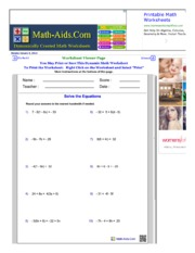 Multistep equations practice