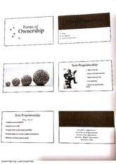 Forms of Ownership Lecture