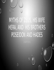 Myths of zeus, his wife hera,