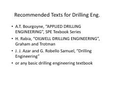 Lecture 3 - Drillstring