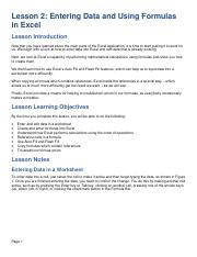 Excel 365 Lesson Notes - Lesson 2.pdf