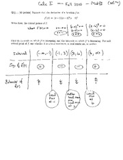 MATH 1823 Midterm 3 Solutions
