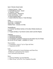 Quiz 2 Study Guide, Intro to World Music