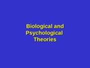 6 - Psychological Theories and Research