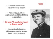 Chapter 28 - Mao's Quotes on a revolution