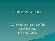 GOV 312L Fall 2014 WEEK 3 overheads