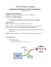 6 - Organizational Planning Notes