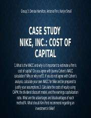 Nike, Inc. Cost of Capital and WACC-Final