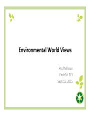 Lecture 3 Environmental Values Slides