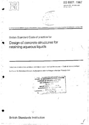 Design of concrete structure retaining liquids-BS 8007