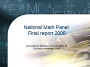 National Math Panel 2008 recommendations ppt