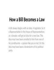 How a Bill Becomes a Law 10-17-17.pptx