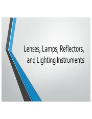 Intro To Lights and Sound - Lens Lamps Reflectors.pdf