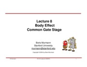 Lecture 08-Body Effect & Common Gate