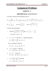 EEE-I-ENGINEERING MATHEMATICS I [15MAT11]-ASSIGNMENT