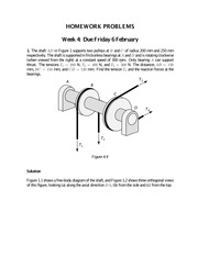 HW4ME 211 STATICS HOMEWORK SOLUTION