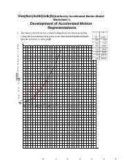 asdfd - Accelerated Motion Model Worksheet 1 Development of ...