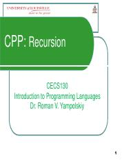 Lecture19CECS130CPPRecursion