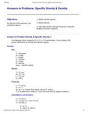 Answers to Practice Problems_ Specific Gravity and Density