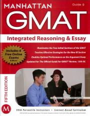 Manhattan GMAT Integrated Reasoning and Essay