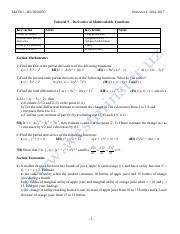 Tutorial 5 - Derivative of Multivariable Functions.pdf