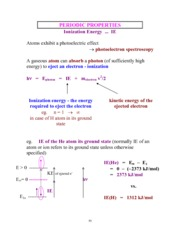 Chapter 9 - Periodic Properties