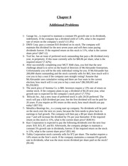 Additional Problems Ch 8