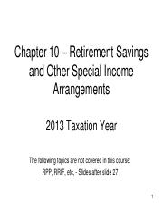 Chapter 10 - PowerPoint - Retirement Savings and Other   Special Income-2013-2014