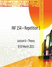 Lecture 6 (9 March)