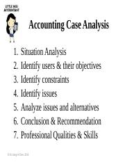Accounting Case Analysis