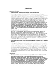 PSYCH 515 Week 5 Team Assignment Case Study Borderline Personality (UOP Course)