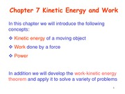 Chapter7 Kinetic Energy and Work