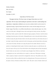 The Piano Lesson Essay