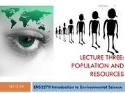 ENSC2270 Lecture 3 Population & Resources 2015