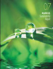 Arçelik Sustainability Report