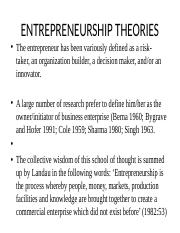 ENTREPRENEURSHIP THEORIES.pptx