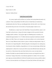 Week 1 Essay Social Problems.docx