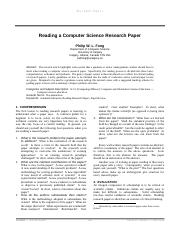 Reading a Computer Science Research Paper.pdf