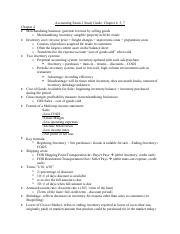 Accounting 221 Exam 2 study guide