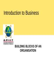 3. Building Blocks of An Organization- Purpose and People