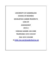 UGB239 Developing Career Prospects Module Assignment 2015-6 Final  On cam....docx