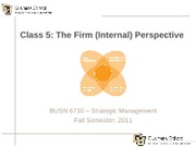 Class 5 - The Firm (Internal) Perspective-1